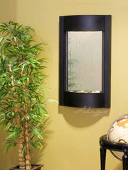 Serene Waters: Silver Mirror with Textured Black Trim