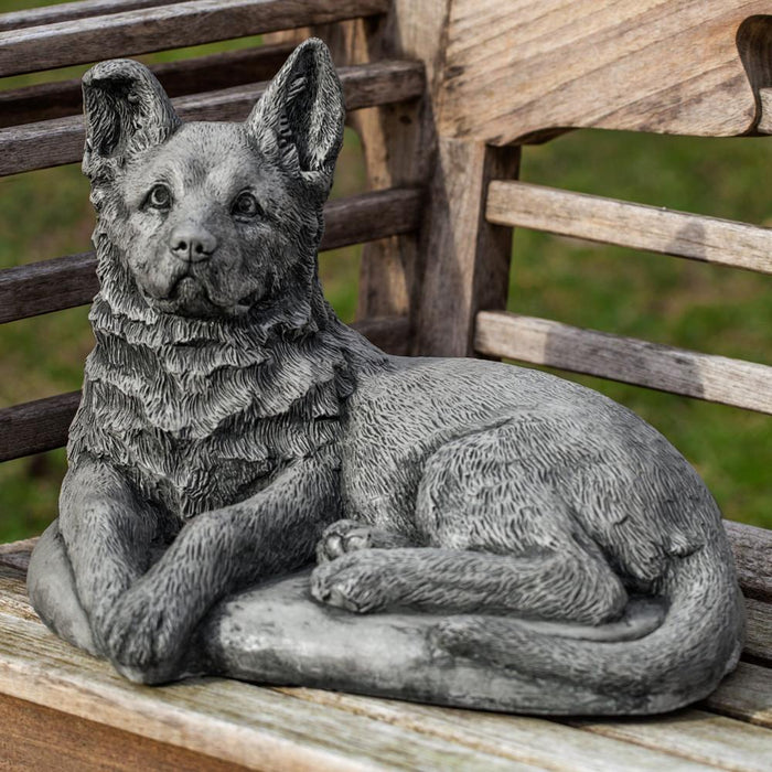 Shepherd Pup Cast Stone Garden Statue - Soothing Company