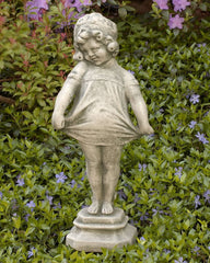 Shy Girl Cast Stone Garden Statue - Soothing Company