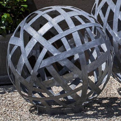 Small Garden Sphere - Zinc - Soothing Company