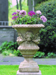 Small Lion with Garland Urn Garden Planter - Soothing Company
