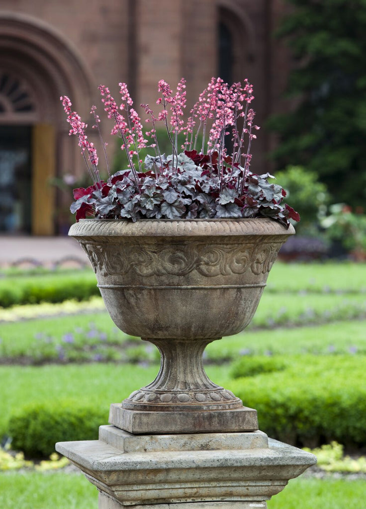 Smithsonian Foliated Scroll Urn Garden Planter - Soothing Company