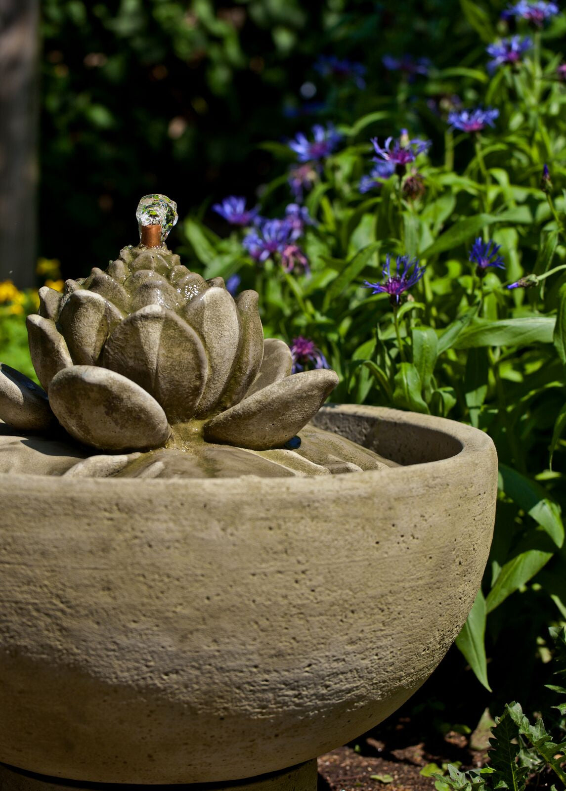 Smithsonian Lotus Garden Water Fountain – Soothing Company