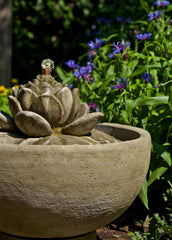 Smithsonian Lotus Garden Water Fountain - Soothing Company