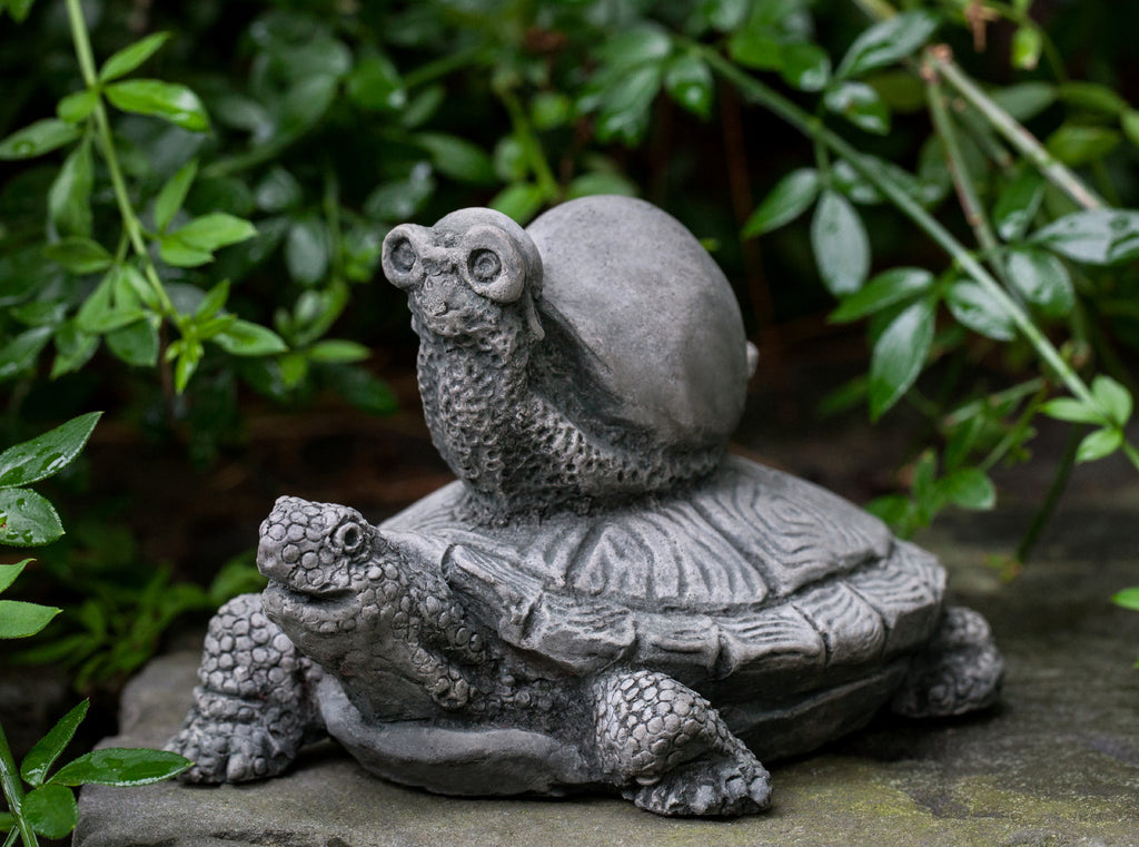 Snail Express Cast Stone Garden Statue - Soothing Walls