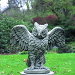 Soaring Owl Cast Stone Garden Statue - Soothing Company