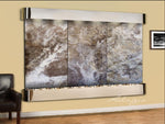 Solitude River: Magnifico Travertine and Stainless Steel Trim with Rounded Corners