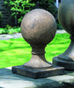 Sphere Square Base Small  Cast Stone Garden Statue - Soothing Company