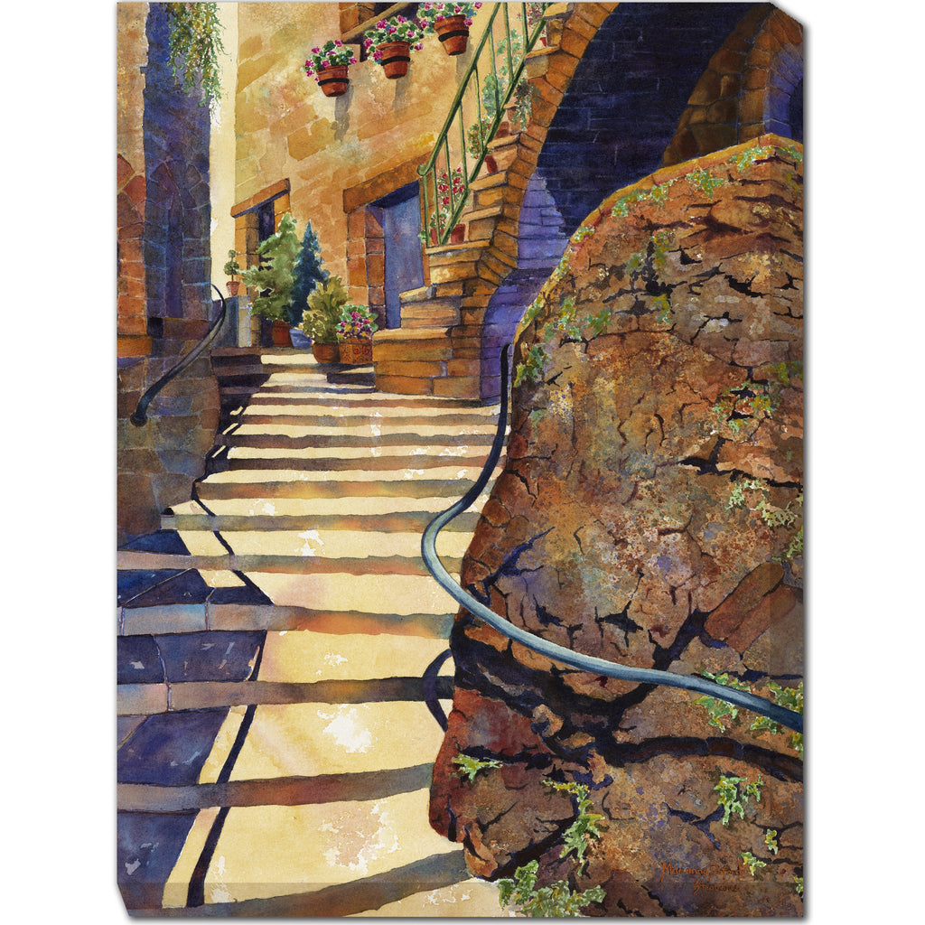Stairs on Stroncone Outdoor Canvas Art