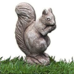 Standing Squirrel Cast Stone Garden Statue - Soothing Company