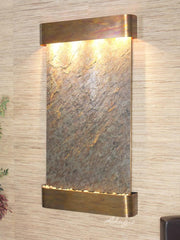 Summit Falls: Green FeatherStone and Rustic Copper Trim with Rounded Corners