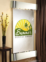 Summit Falls: Silver Mirror and Stainless Steel Trim with Rounded Corners