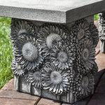 Sunflower Garden Bench