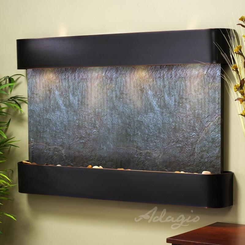 Sunrise Springs: Black FeatherStone and Blackened Copper Trim with Rounded Corners