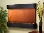Sunrise Springs: Bronze Mirror and Blackened Copper Trim with Rounded Corners
