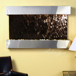 Sunrise Springs: Bronze Mirror and Stainless Steel Trim with Squared Corners