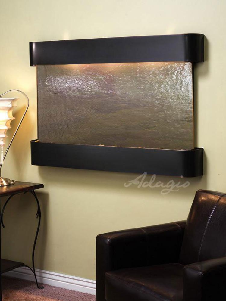 Sunrise Springs: Multi-Color FeatherStone and Blackened Copper Trim with Rounded Corners