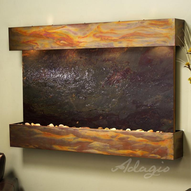 Sunrise Springs: Multi-Color FeatherStone and Rustic Copper Trim with Squared Corners