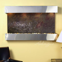 Sunrise Springs: Multi-Color FeatherStone and Stainless Steel Trim with Squared Corners