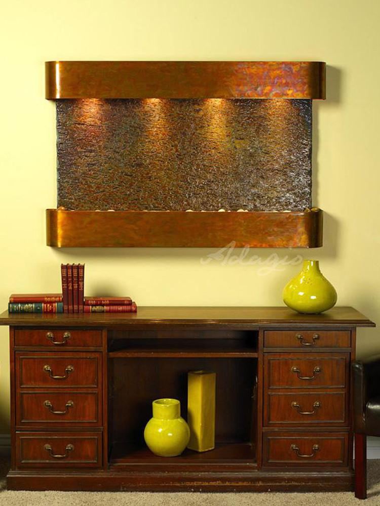 Sunrise Springs: Multi-Color Slate and Rustic Copper Trim with Rounded Corners