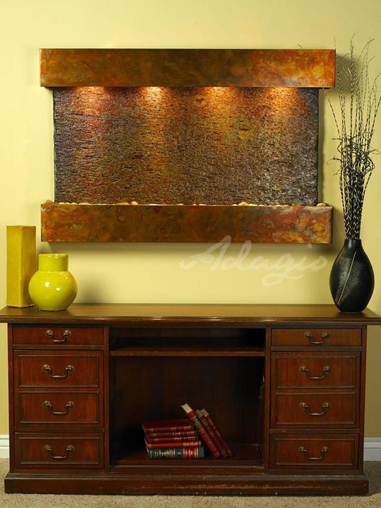 Sunrise Springs: Multi-Color Slate and Rustic Copper Trim with Squared Corners