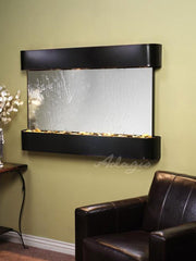 Sunrise Springs: Silver Mirror and Blackened Copper Trim with Rounded Corners