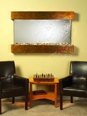 Sunrise Springs: Silver Mirror and Rustic Copper Trim with Squared Corners