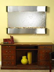 Sunrise Springs: Silver Mirror and Stainless Steel Trim with Rounded Corners