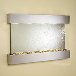 Sunrise Springs: Silver Mirror and Stainless Steel Trim with Squared Corners