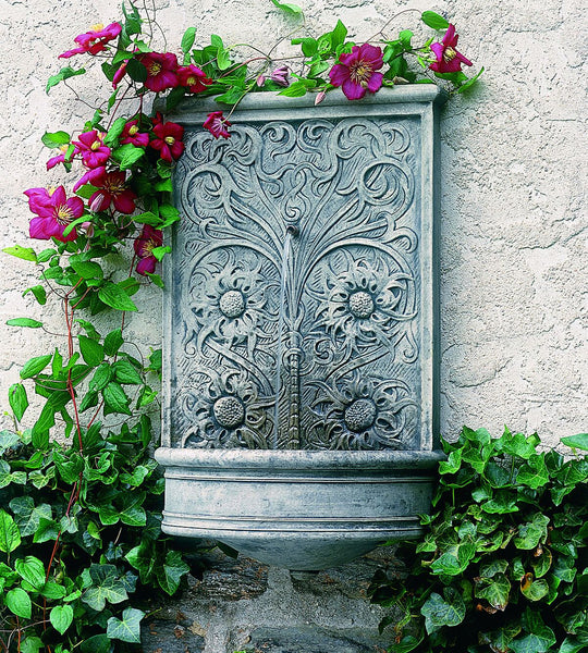 Sussex Wall Outdoor Water Fountain - Soothing Company