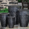 Tall Hyphen Planter - Set of 4 in Ice Black - Soothing Company