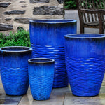 Tall Hyphen Planter - Set of 4 in Riviera Blue - Soothing Company