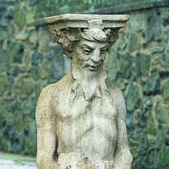 Tall Satyr Cast Stone Garden Statue - Soothing Company