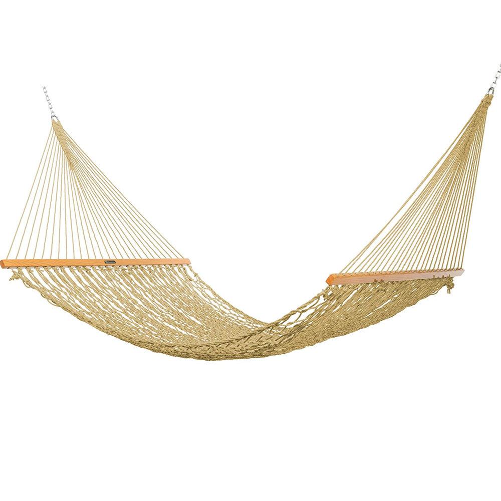 Presidential Size Original DuraCord® Rope Hammock in Tan - Soothing Company
