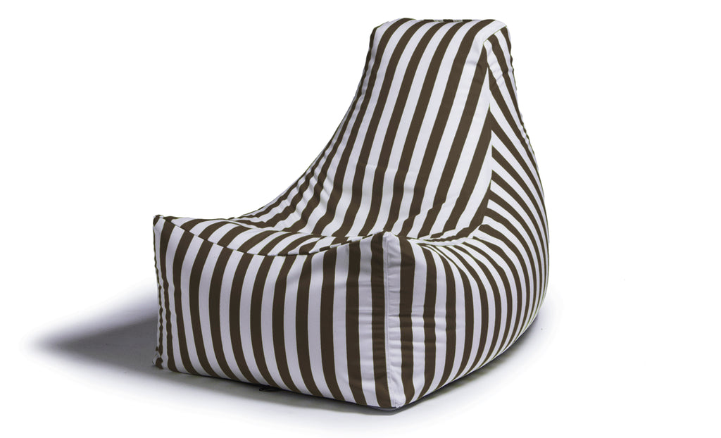 Juniper Outdoor Bean Bag Chair Taupe Stripe - Soothing Company