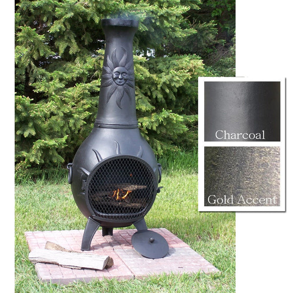 The Blue Rooster Sun Stack Chiminea - Soothing Company