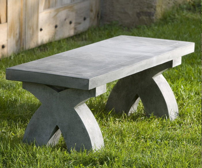 The X Garden Cast Stone Bench - Soothing Company