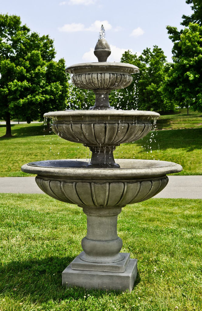 Three Tier Longvue Outdoor Water Fountain - Soothing Company