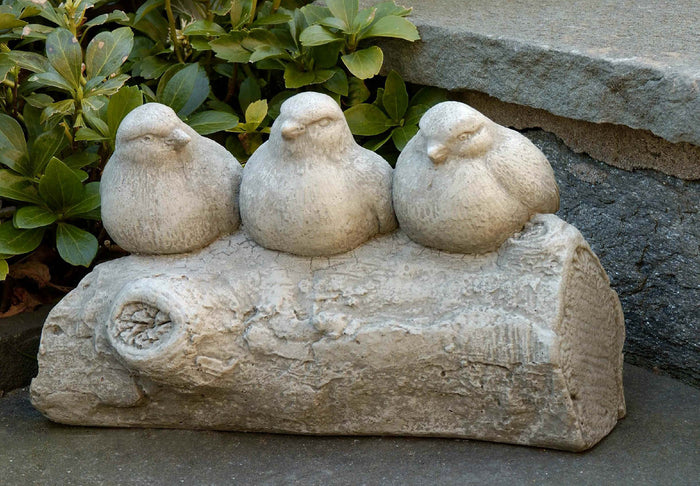Three's a Crowd Cast Stone Garden Statue - Soothing Company