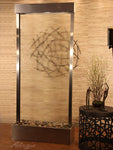 Tranquil River - Center Mount - Stainless Trim and Clear Glass - Soothing Walls