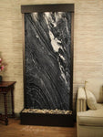 Tranquil River (Flush Mounted Towards Rear Of The Base) - Black Spider Marble - Antique Bronze - Soothing Walls
