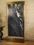 Tranquil River (Flush Mounted Towards Rear Of The Base) - Black Spider Marble - Rustic Copper - Soothing Walls