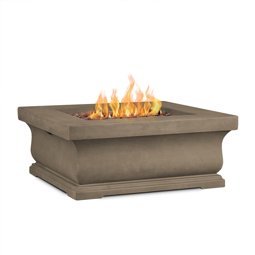 Treviso Square Propane Fire Table with NG Conversion Kit - Soothing Company