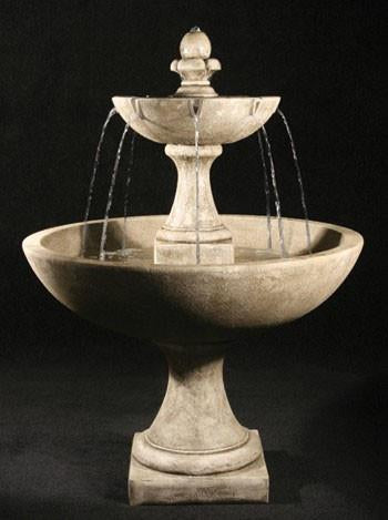 Trinidad Tiered Cast Stone Fountain with International Finial - Soothing Company