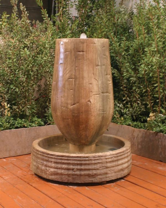 Trunk Garden Fountain - Soothing Walls