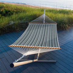 Pawleys Island Large Quilted Fabric Hammock in Trusted Coast - Soothing Company