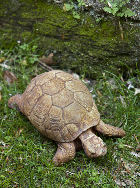 Turtle Cast Stone Garden Statue - Soothing Company