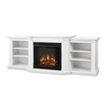 Valmont Entertainment Center Electric Fireplace in White - Soothing Company