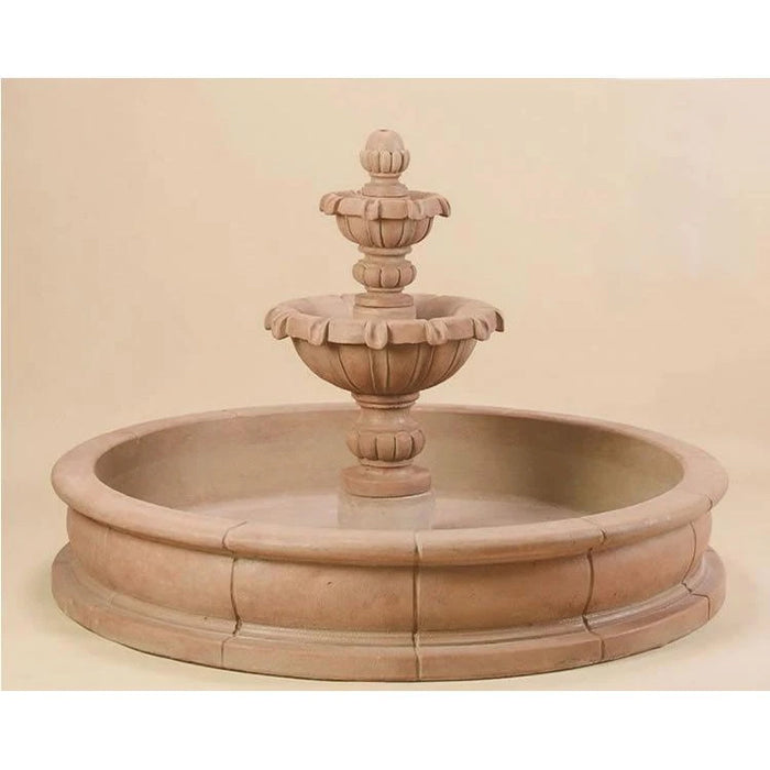 Versailles Garden Two Tier Pond Fountain - Soothing Company