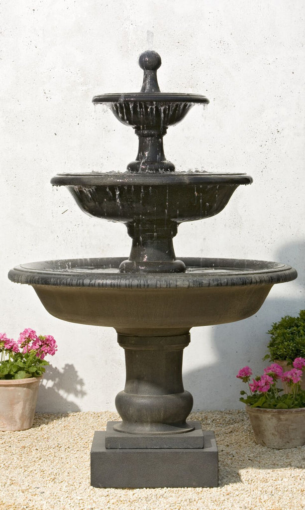 Vicobello Tiered Outdoor Water Fountain - Soothing Company